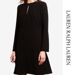 Lauren Ralph Lauren Black Bell Sleeve Dress 16 NWT